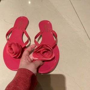 Valentino Rose Jelly Sandals Pink